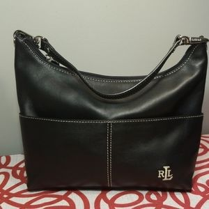 LAUREN RALPH LAUREN SMALL leather blk
